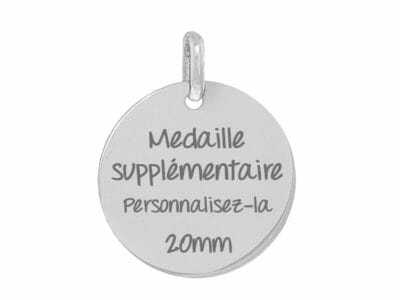 bijoux 0005 medaille supplementaire 400x300 - Médaille d'argent massif additionnelle dans votre bracelet