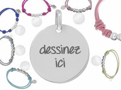 bijoux 0016 dessinez elastique 400x300 - Bijou personnalisé : Bracelet élastique avec boules en argent massif dessinez votre bijou