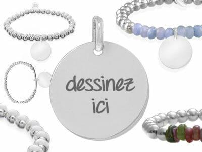 bijoux 0018 dessinez argent massif 400x300 - Bijou personnalisé : Bracelet en boules d'argent massif et pierres semi-précieuses dessinez votre bracelet