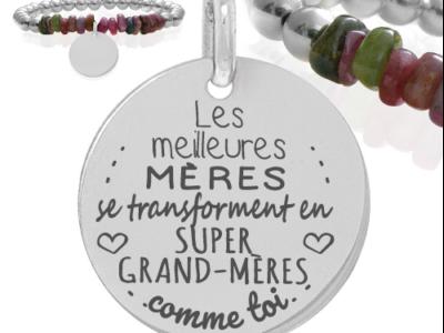Les meilleures mères se transforment en meilleures grand mères 1 400x300 - Cadeaux personnalisés : Bracelet Les meilleures mères se transforment..