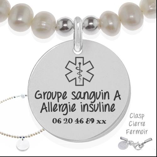 Medical 1 - Cadeaux personnalisés : Collier Groupe sanguin