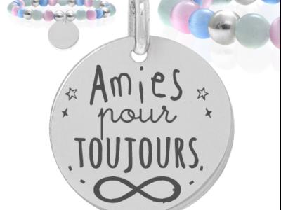 amies pour toujours 400x300 - Cadeaux personnalisés : Bracelet amies pour toujours