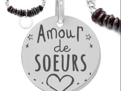 amour de soeurs 400x300 - Cadeaux personnalisés : Bracelet amour de soeur