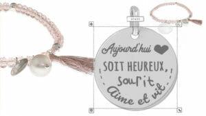 grid personnalise 300x169 - Cadeaux personnalisés : porte-clés avec franges rouge, lisse poisson signe astro