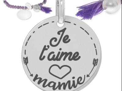 je taime mamie 400x300 - cadeaux personnalisés : Bracelet je t'aime mamie