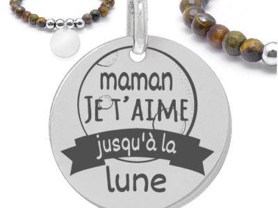 maman je taime jusquà la lune 3 400x300 - Cadeaux personnalisés : Bracelet Maman je t'aime jusqu'à
