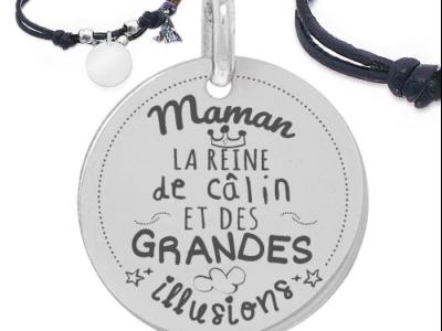 maman la reine des calins 400x300 - Cadeaux personnalisés :Bracelet  Maman la reine de câlin
