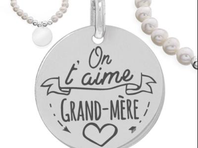 on taime grand mère 1 400x300 - Cadeaux personnalisés : Bracelet On t'aime grand-mère