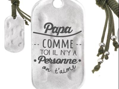 papa comme toi il ny a personne 400x300 - Cadeaux personnalisés : Porte-clés papa comme toi