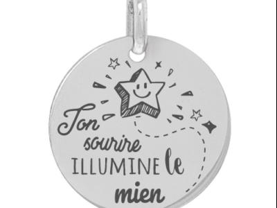 ton sourire illumine le mien 400x300 - Cadeaux personnalisés : Médaille ton sourire illumine