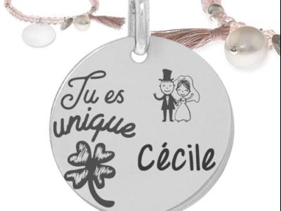 tu es unique 1 400x300 - Cadeaux personnalisés : Bracelet tu es unique
