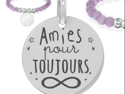 amies pour toujours 2 400x300 - Cadeaux personnalisés : Bracelet amies pour toujours