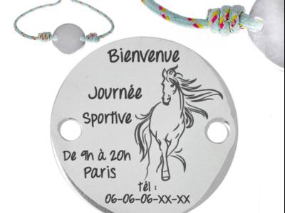 cheval journée sportive 400x300 - Cadeaux personnalisés : Bracelet ajustable évènement équestre
