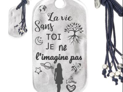 la vie sans toi je ne limagine pas femme 400x300 - Cadeaux personnalisés : porte-clés avec franges la vie sans toi je ne l'imagine pas (femme)
