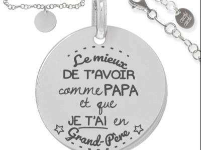 le mieux de tavoir comme papa 400x300 - Cadeaux personnalisés : Bracelet chaine tressée le mieux de t'avoir comme papa