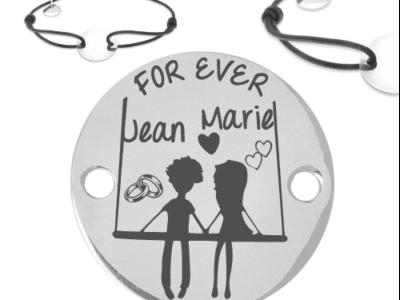 prénom mariage for ever 400x300 - Cadeaux personnalisés : Bracelet for ever